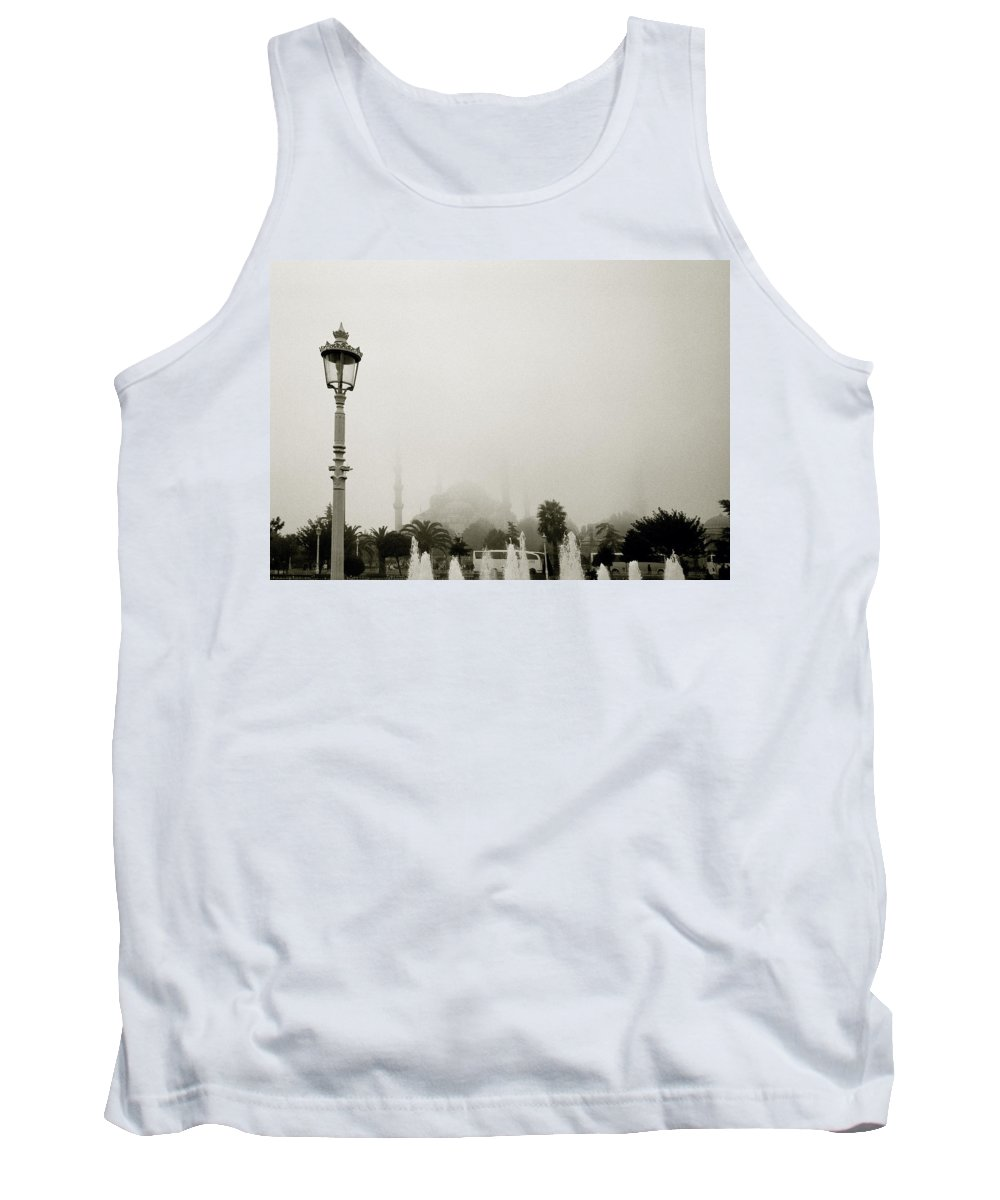 Istanbul Tank Top featuring the photograph A Misty Day by Shaun Higson