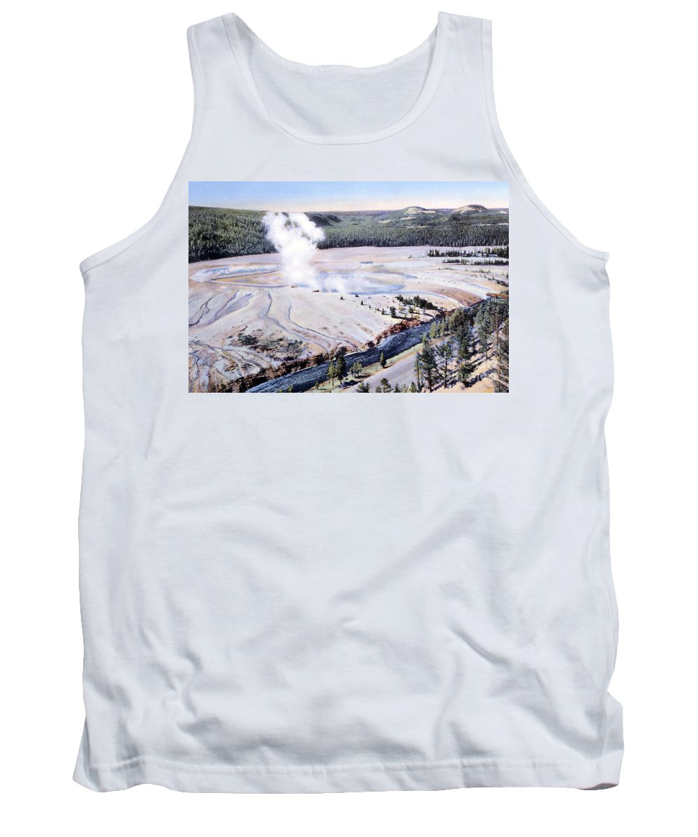 History Tank Top featuring the photograph Excelsior Geyser, Yellowstone Np, 20th by NPS Photo/Frank J. Haynes