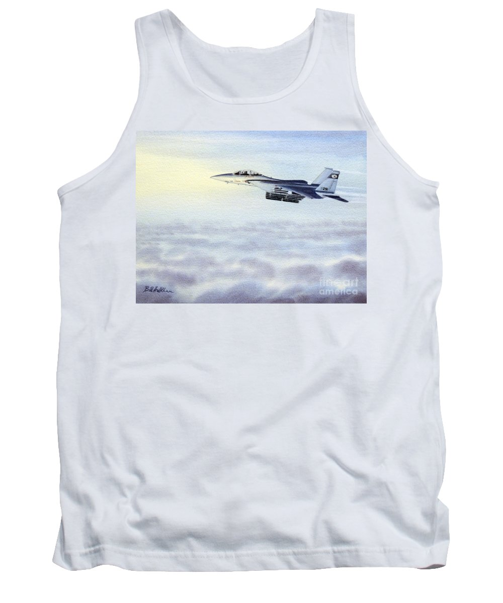 Aircraft Paintings Tank Top featuring the painting F-15 Eagle by Bill Holkham