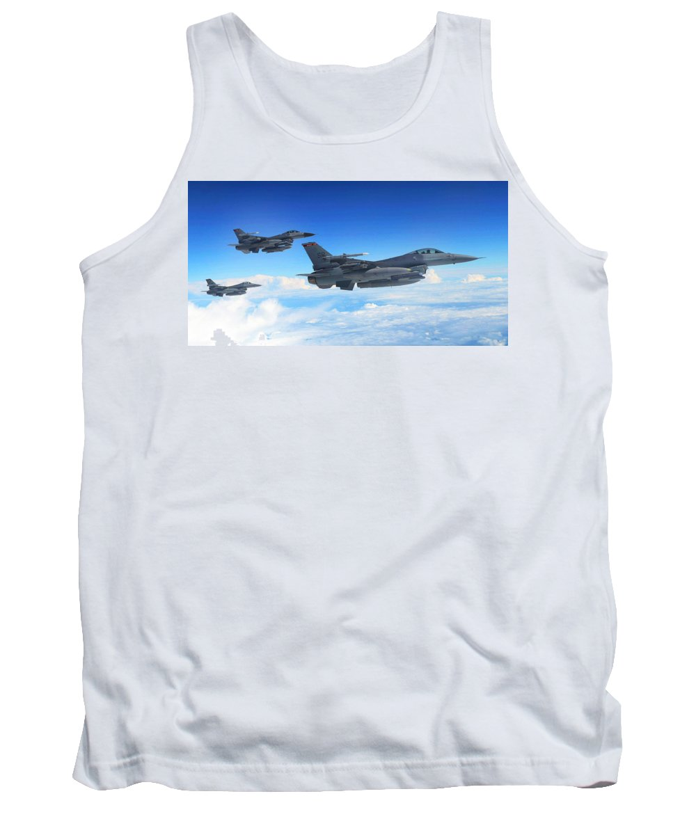 Tank Top featuring the photograph F16 Fighting Falcons by Paul Fearn