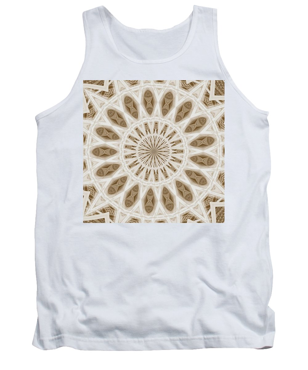 Tank Top featuring the digital art Fading Poem Mountain by John Holfinger
