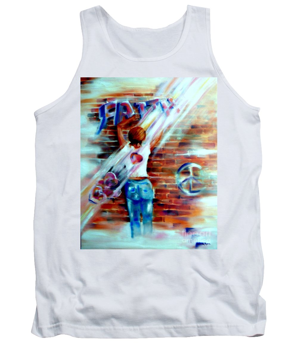 Orayers Tank Top featuring the painting Faith...within Reach by Sandy Ryan