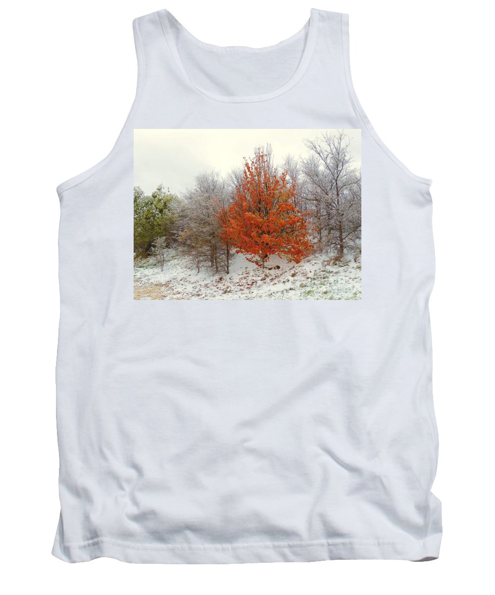 Fall Tank Top featuring the photograph Fall And Winter by Robert ONeil