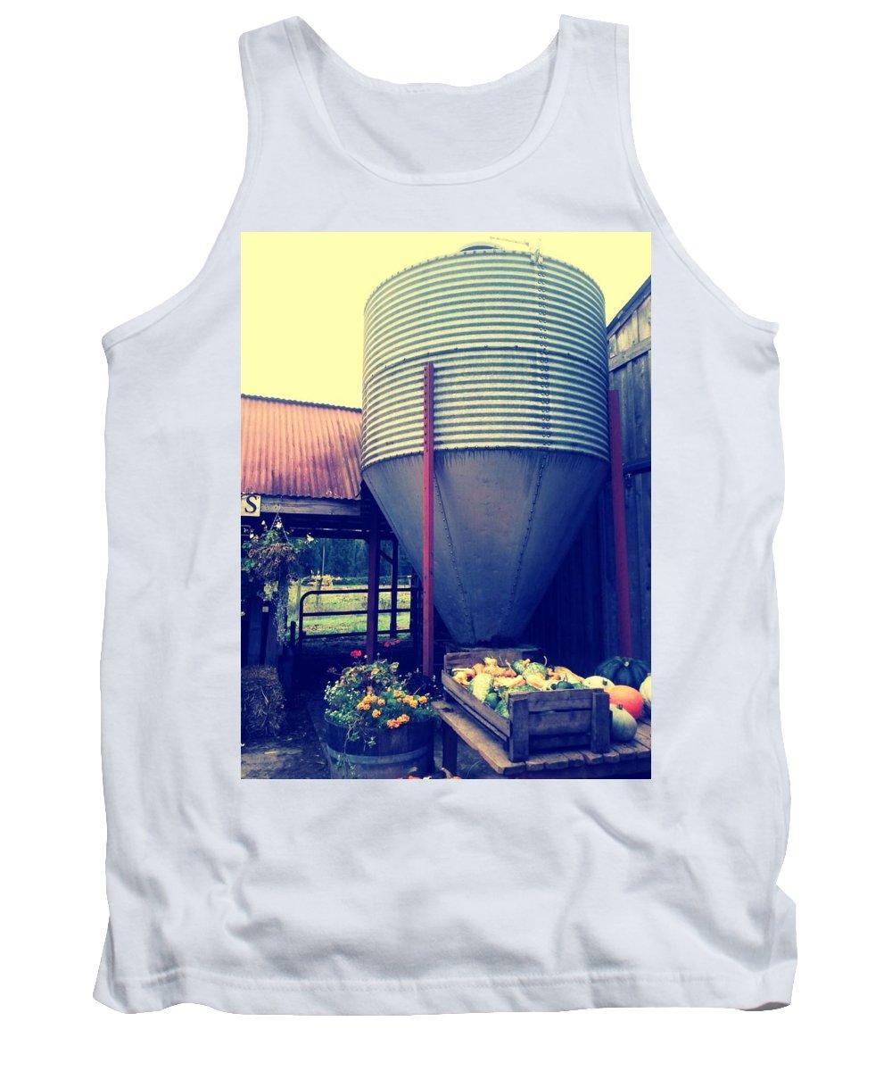 Farm Tank Top featuring the photograph Fall City Farm by Barbara Christensen