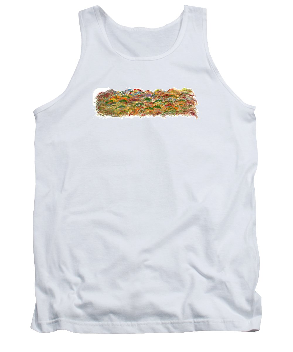 Trees Tank Top featuring the painting Fall Colours by Bjorn Sjogren