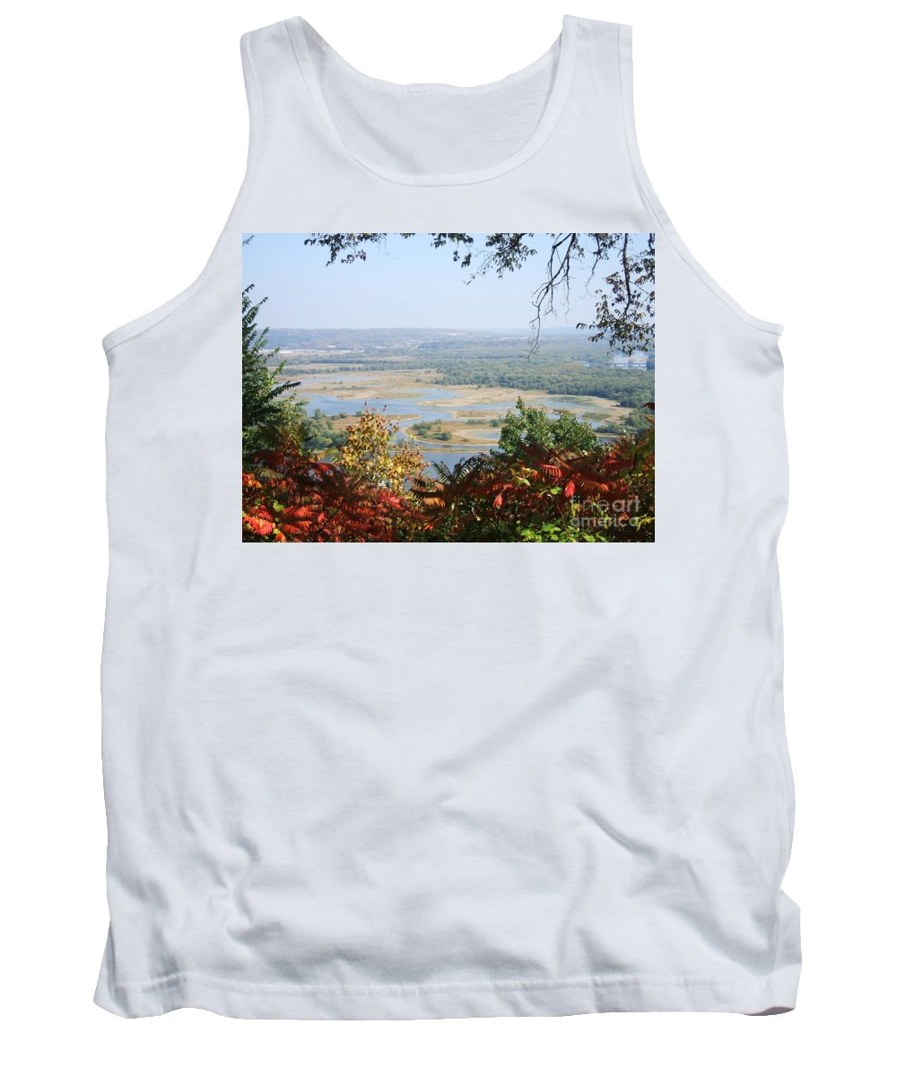 Trees Leaves Tank Top featuring the photograph Fall Framed Islands by Minding My Visions by Adri and Ray