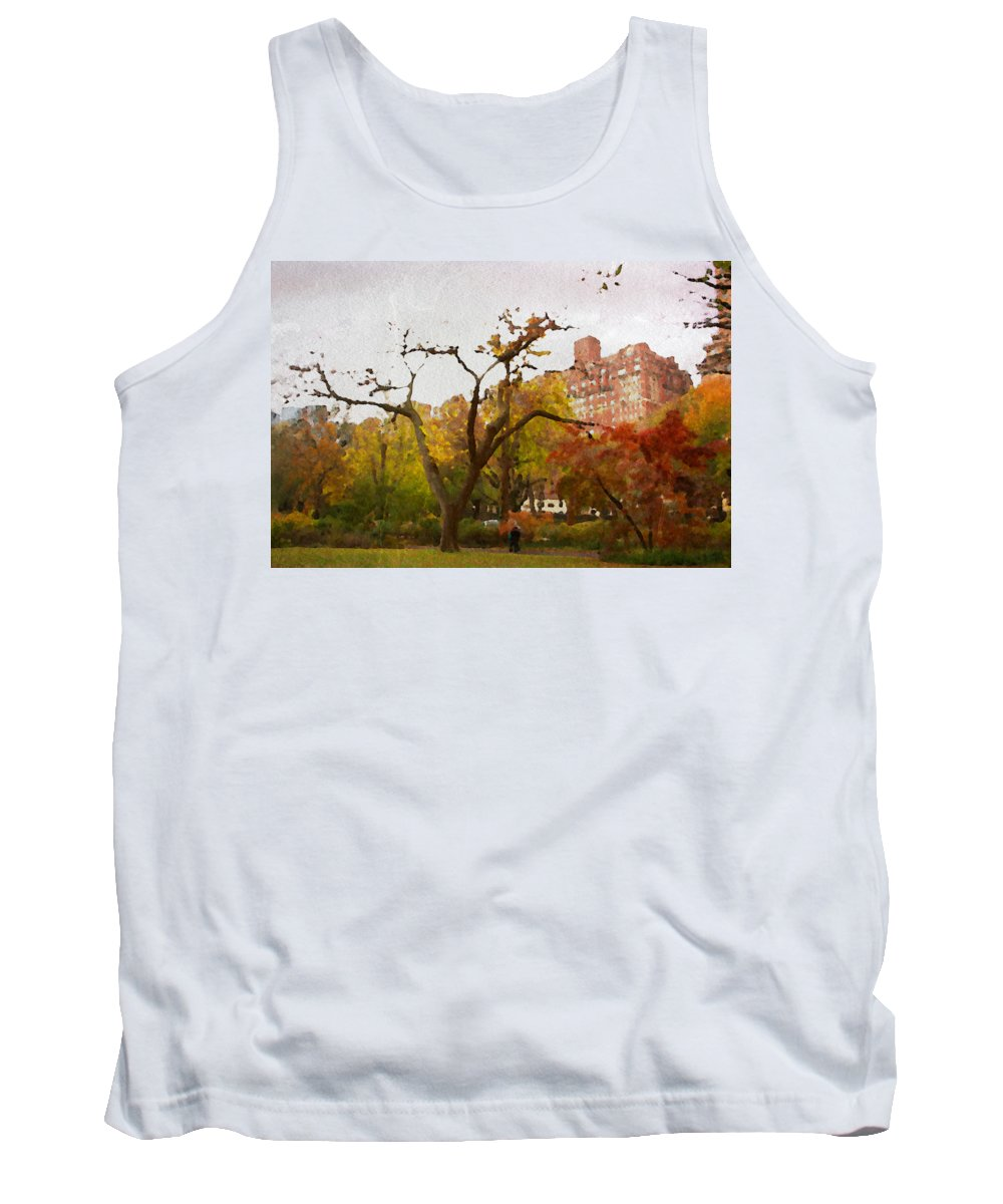 Central Park Tank Top featuring the photograph Fall In Central Park by Alice Gipson