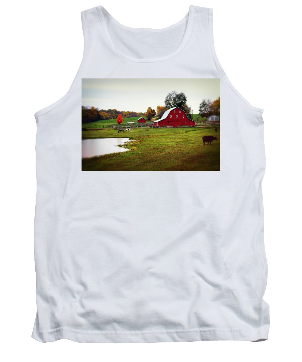 Barn Tank Top featuring the photograph Farm Perfect by Marty Koch