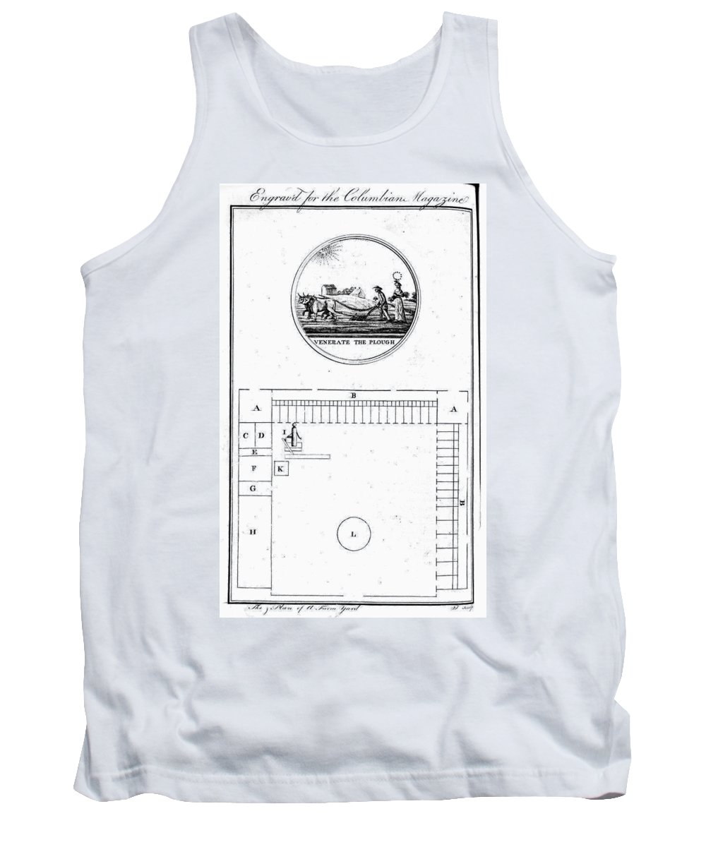 1786 Tank Top featuring the photograph Farm Yard Plan, 1786 by Granger