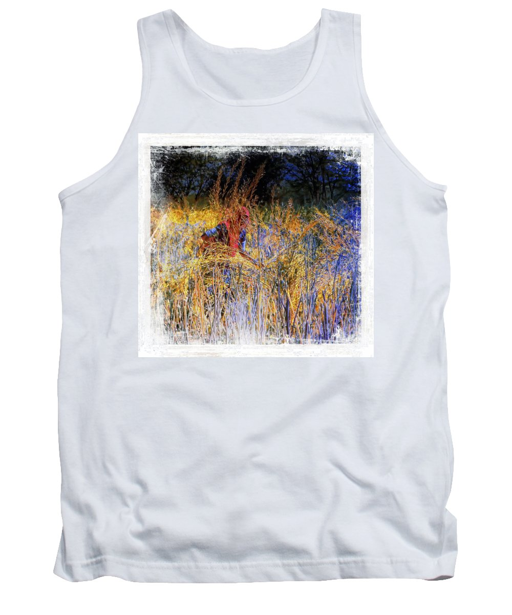 Harvest Tank Top featuring the photograph Farmers Fields Harvest India Rajasthan 6 by Sue Jacobi