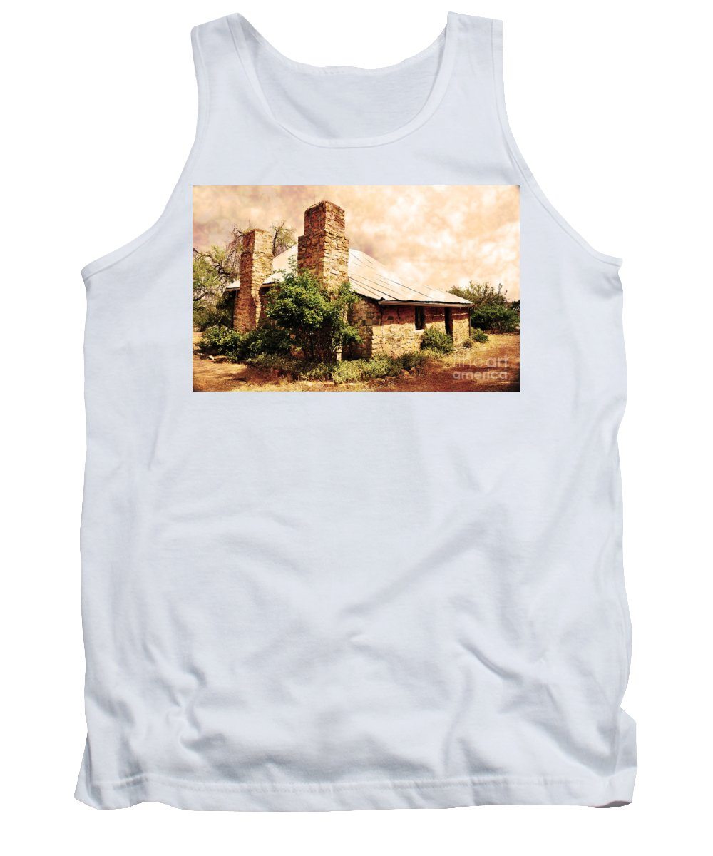 Farm Tank Top featuring the photograph Farmhouse by Phill Petrovic
