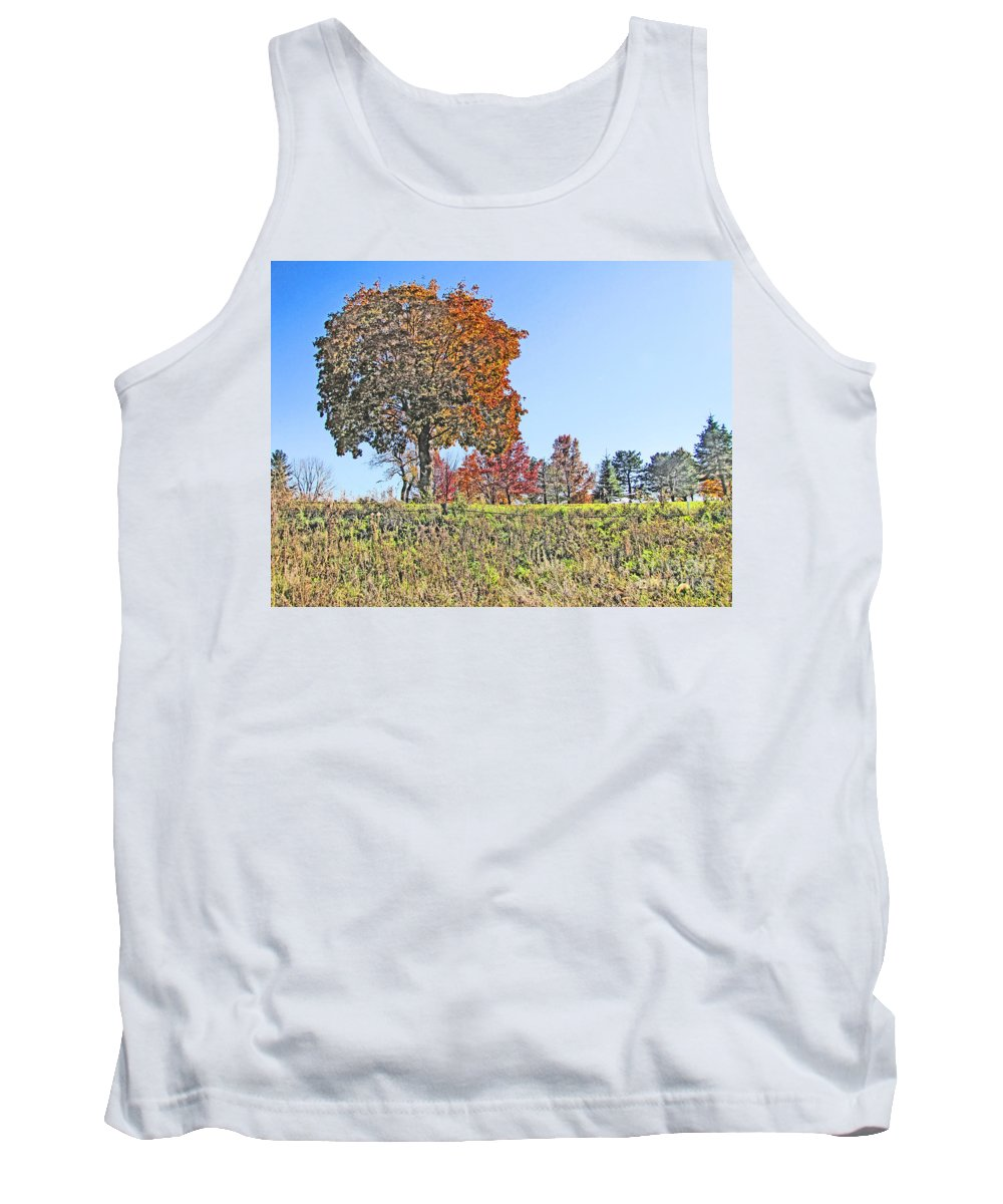Fall Tank Top featuring the photograph Favoring The Fall Colors by Minding My Visions by Adri and Ray
