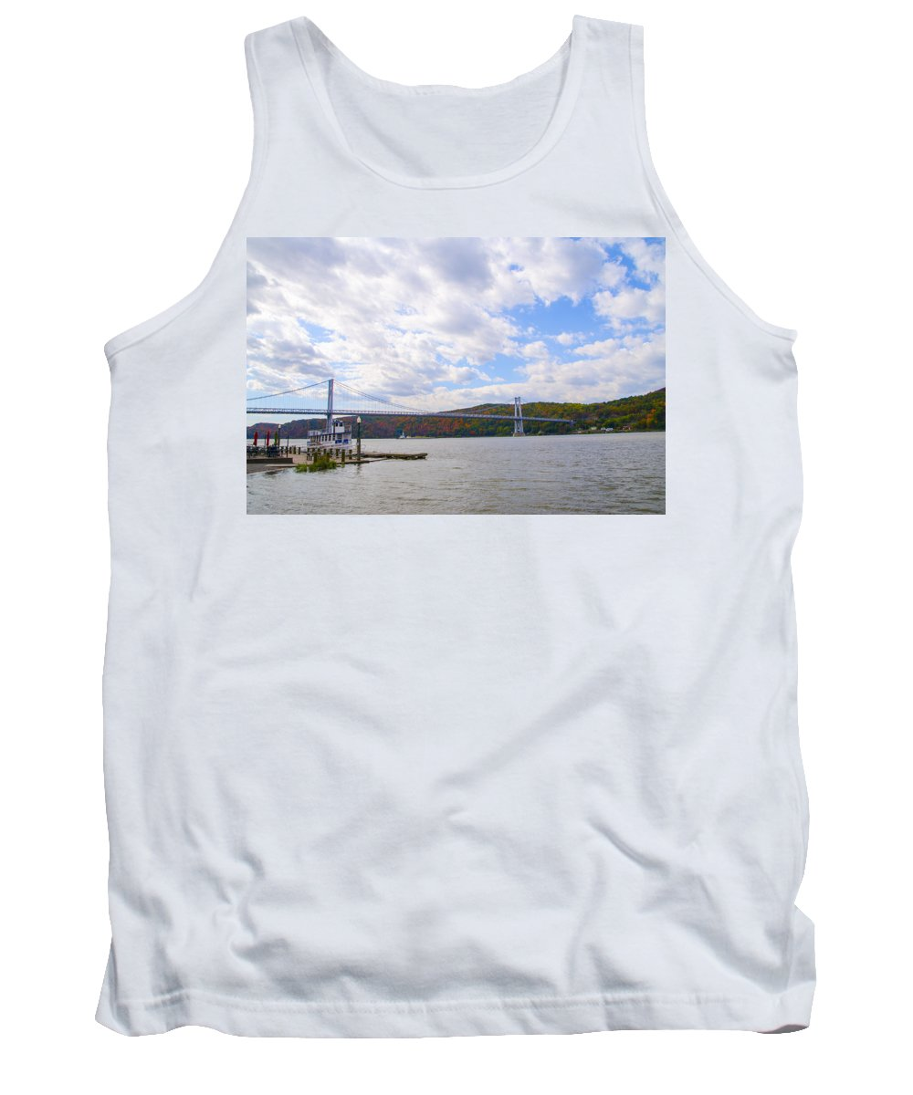 Fdr Tank Top featuring the photograph Fdr Mid Hudson Bridge - Poughkeepsie Ny by Bill Cannon