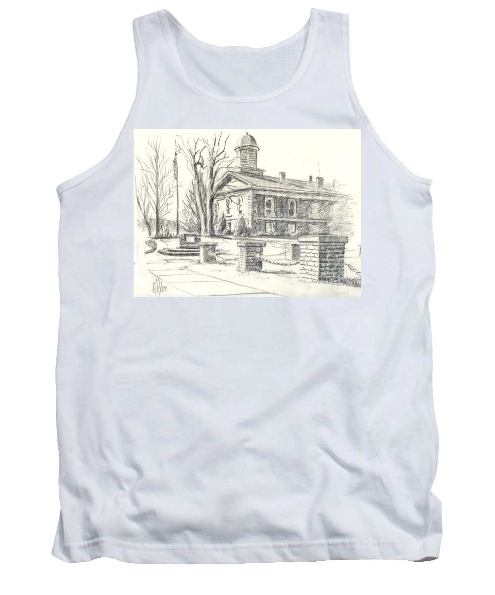 February Morning No Ctc102 Tank Top featuring the drawing February Morning No Ctc102 by Kip DeVore