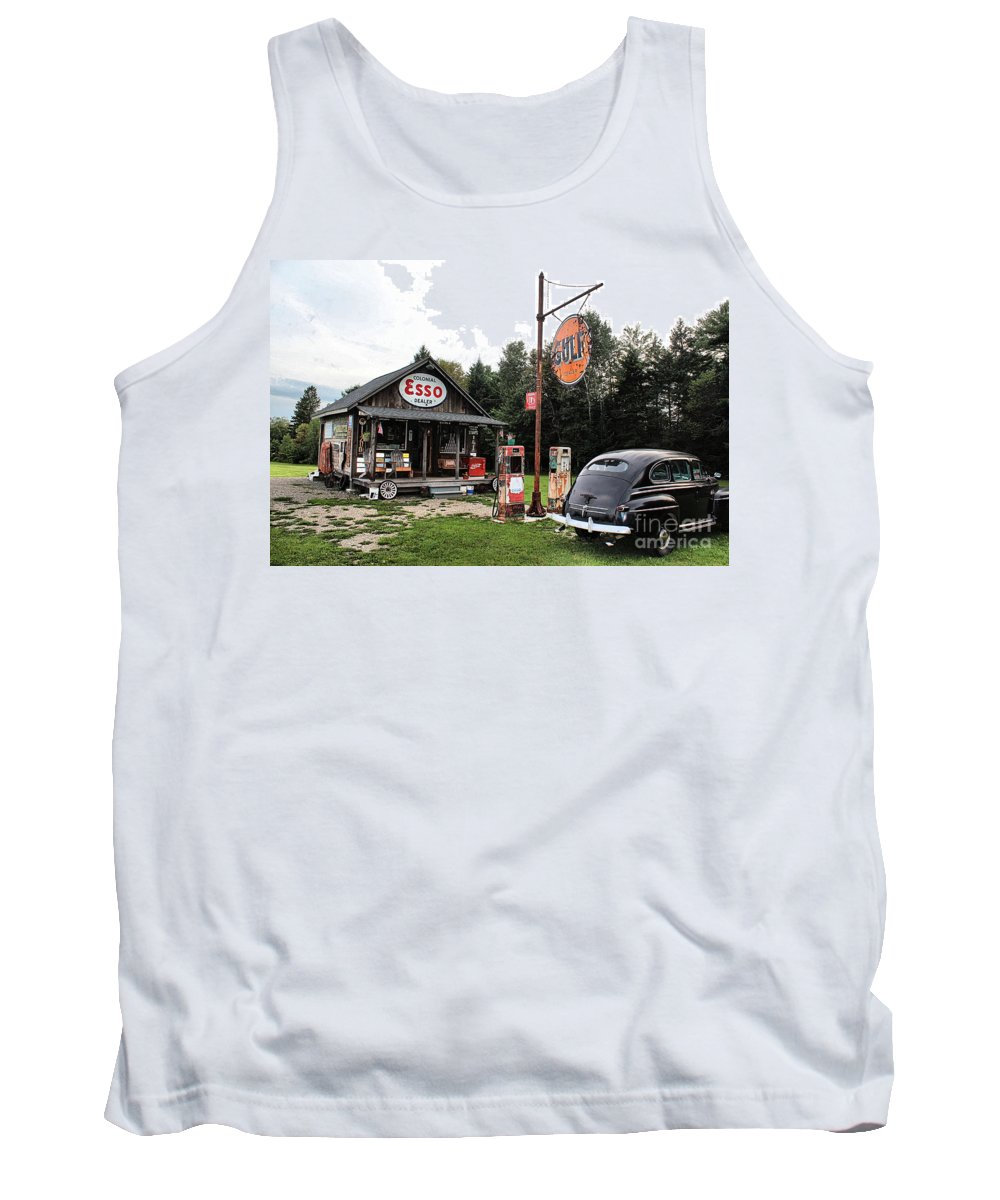 Ferland's Service Station Tank Top featuring the photograph Ferland's_1137 by Joseph Marquis