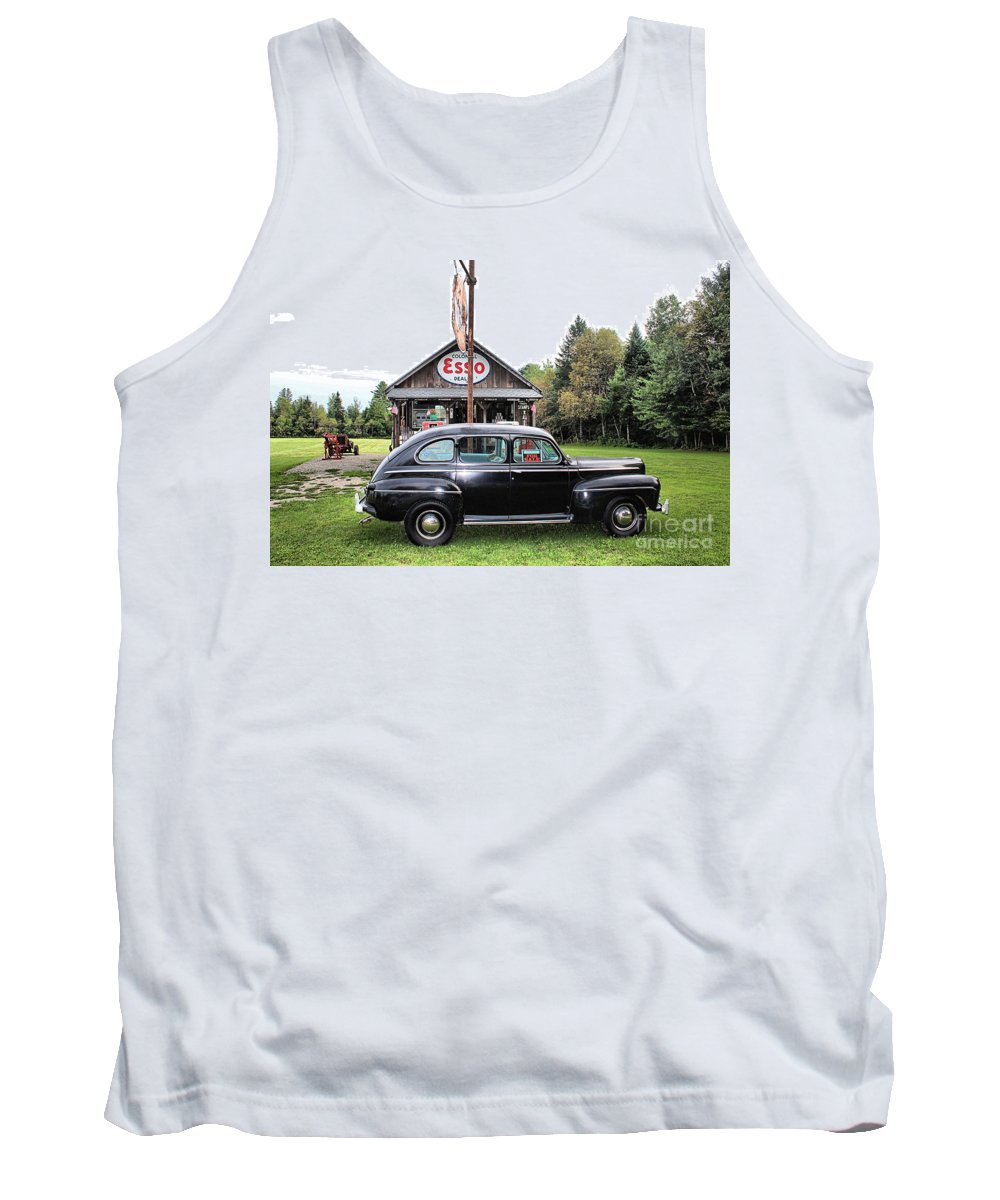 Ferland's Service Station Tank Top featuring the photograph Ferland's_1138 by Joseph Marquis