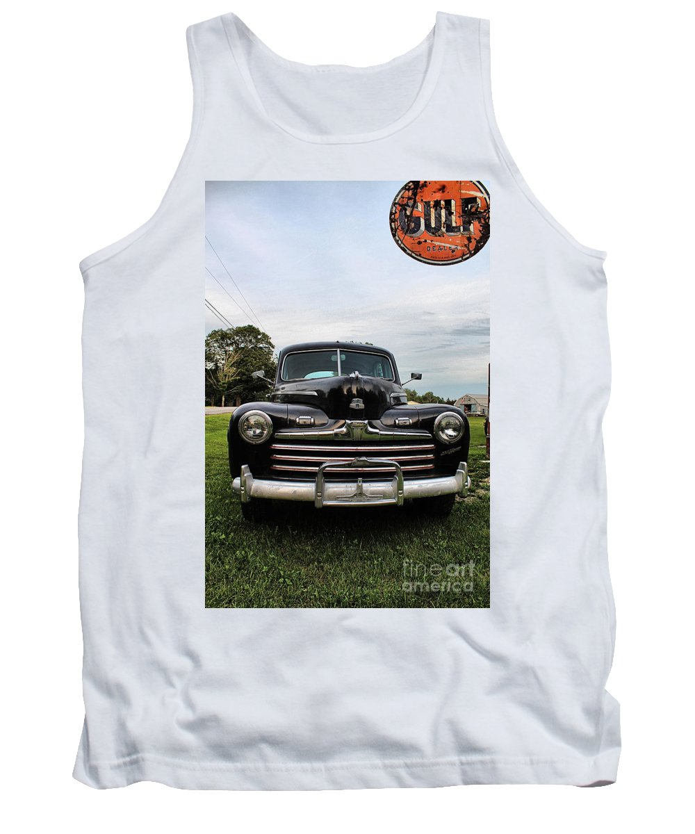 Ferland's Service Station Tank Top featuring the photograph Ferland's_1157 by Joseph Marquis