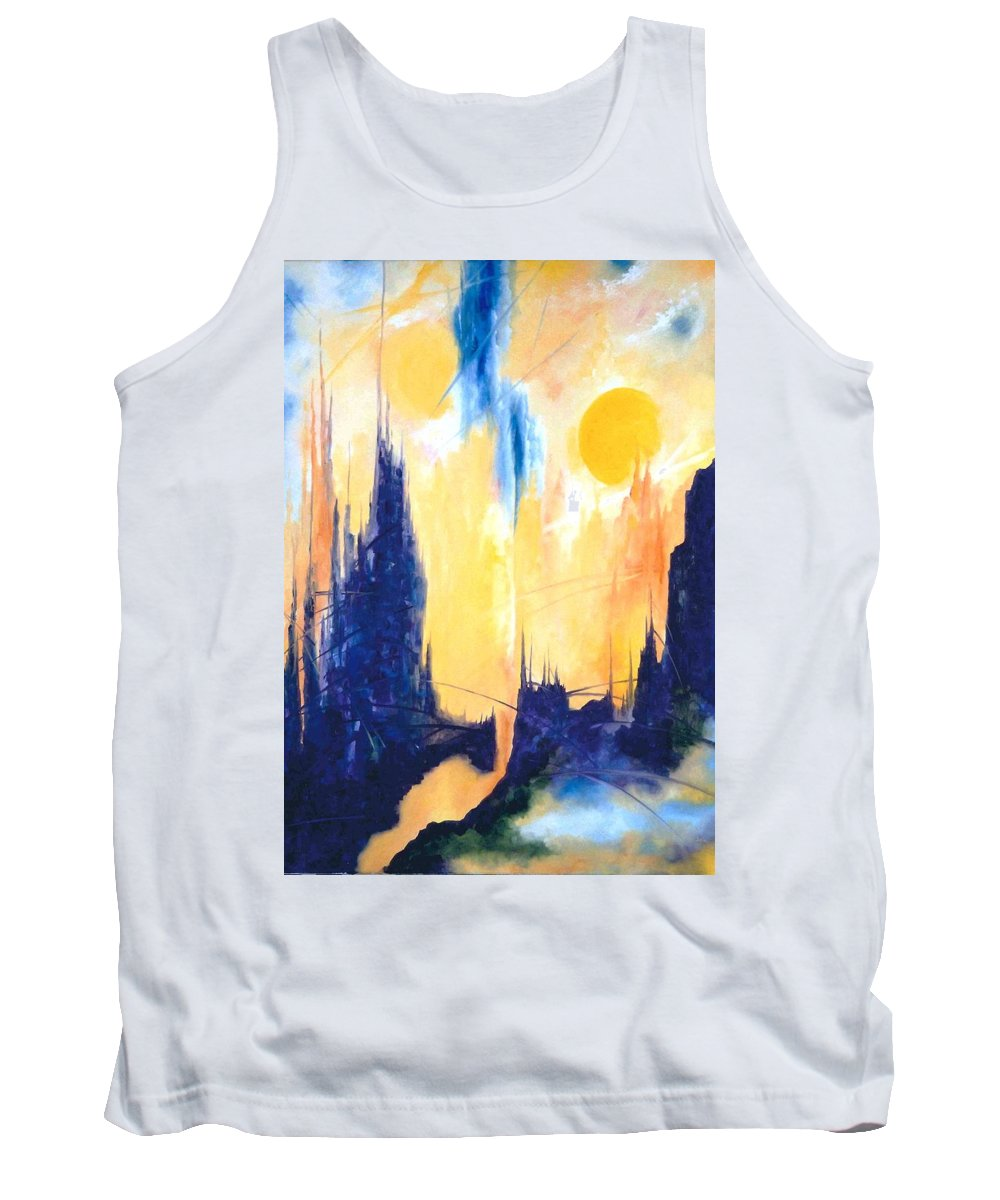 Lyle Tank Top featuring the painting Fiction 5 by Lord Frederick Lyle Morris - Disabled Veteran