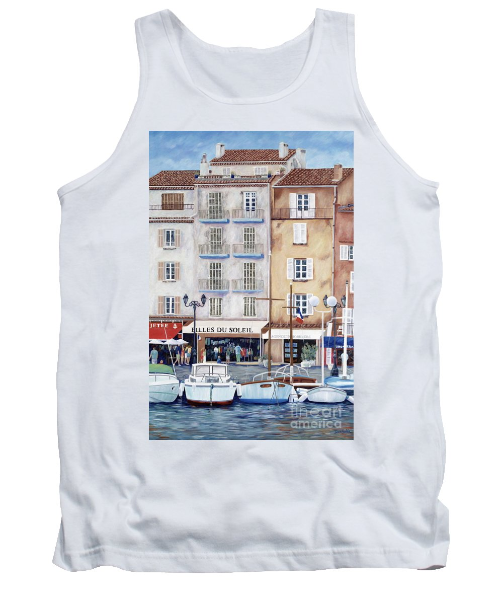 St. Tropez Tank Top featuring the painting Filles Du Soleil by Danielle Perry
