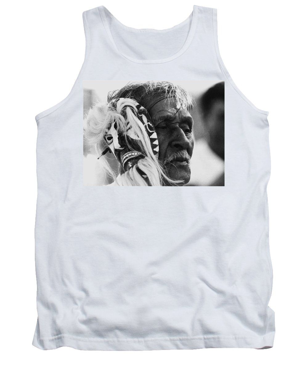 Film Homage The Yaqui 1916 Pascola Dancer New Pascua Arizona 1969 Tank Top featuring the photograph Film Homage The Yaqui 1916 Pascola Dancer New Pascua Arizona 1969-2008  by David Lee Guss
