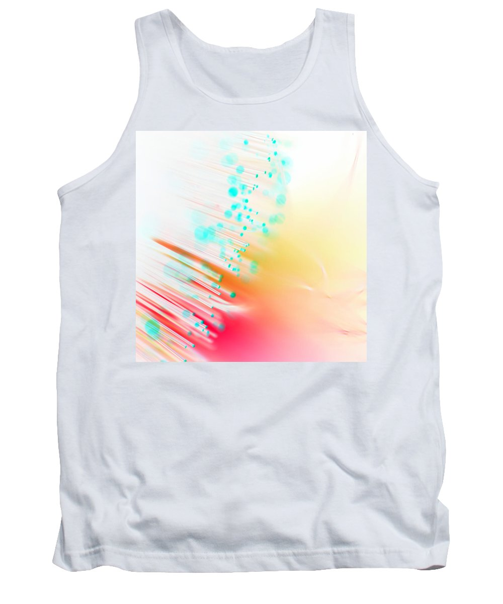 Abstract Tank Top featuring the photograph Fire And Light by Dazzle Zazz