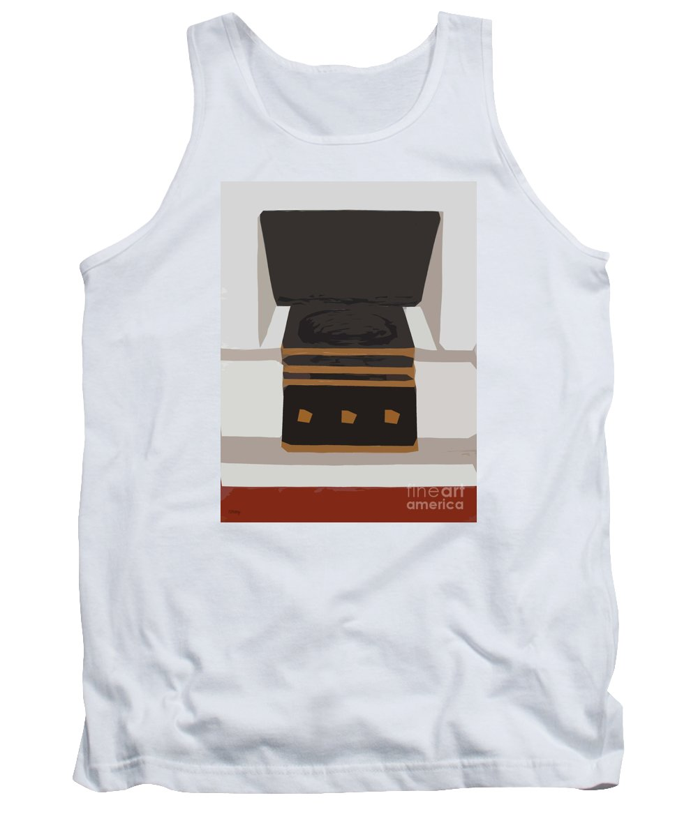 Fireplace Tank Top featuring the painting Fireside Without You by Patrick J Murphy