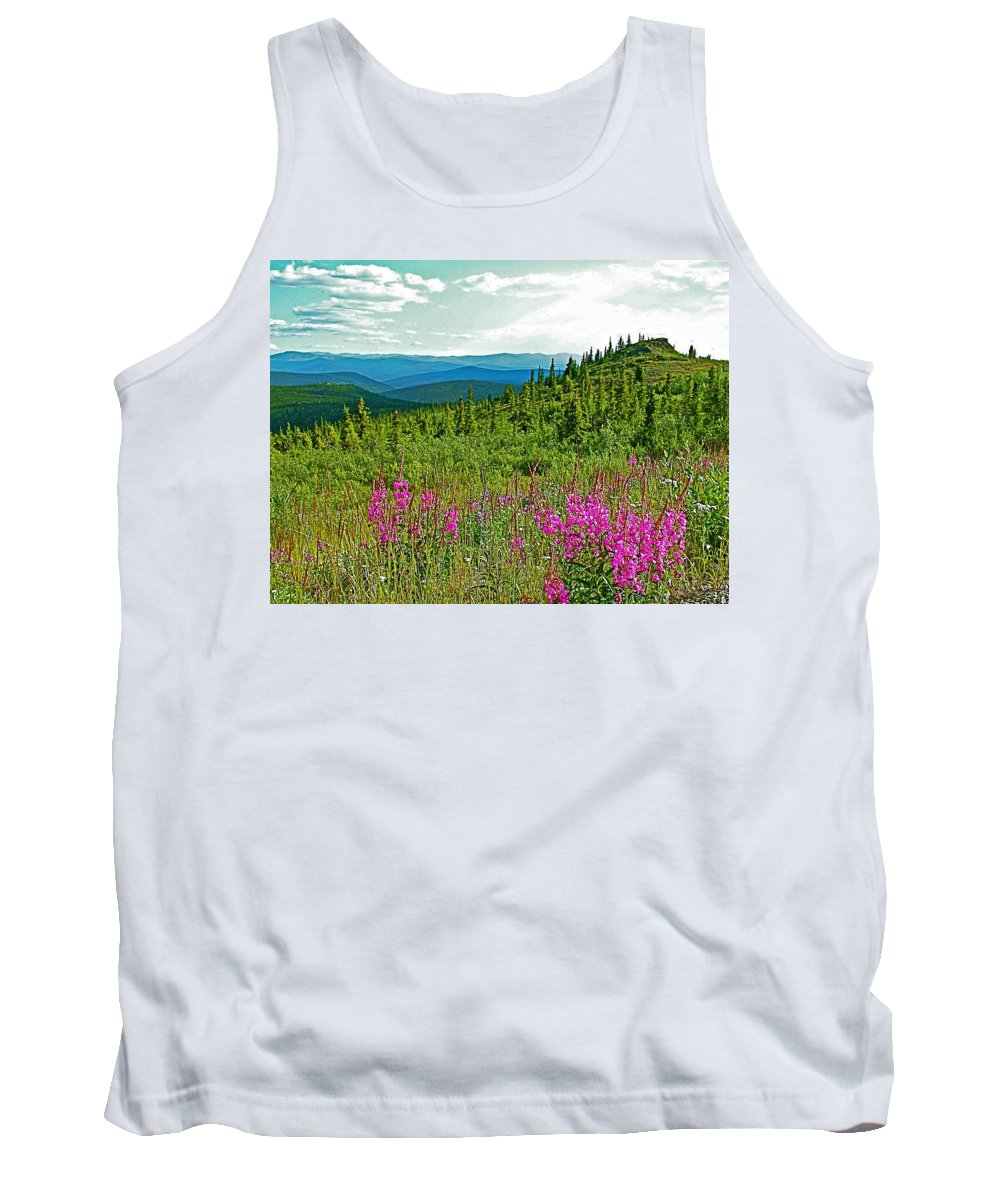 Fireweed Near Top Of The World Highway Tank Top featuring the photograph Fireweed Near Top Of The World Highway-alaska by Ruth Hager
