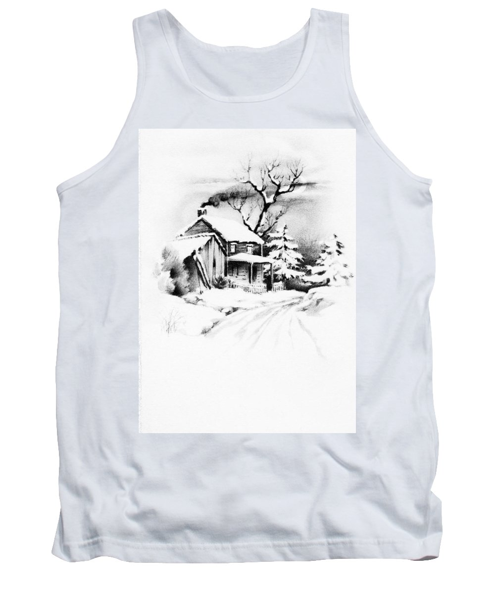 First Tank Top featuring the photograph First House by Munir Alawi