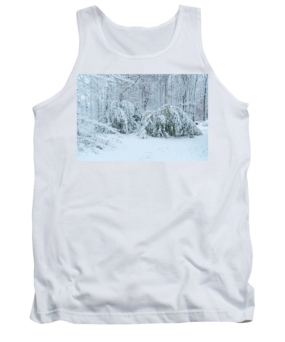 First Snow Tank Top featuring the photograph First Snow by Richard Kitchen