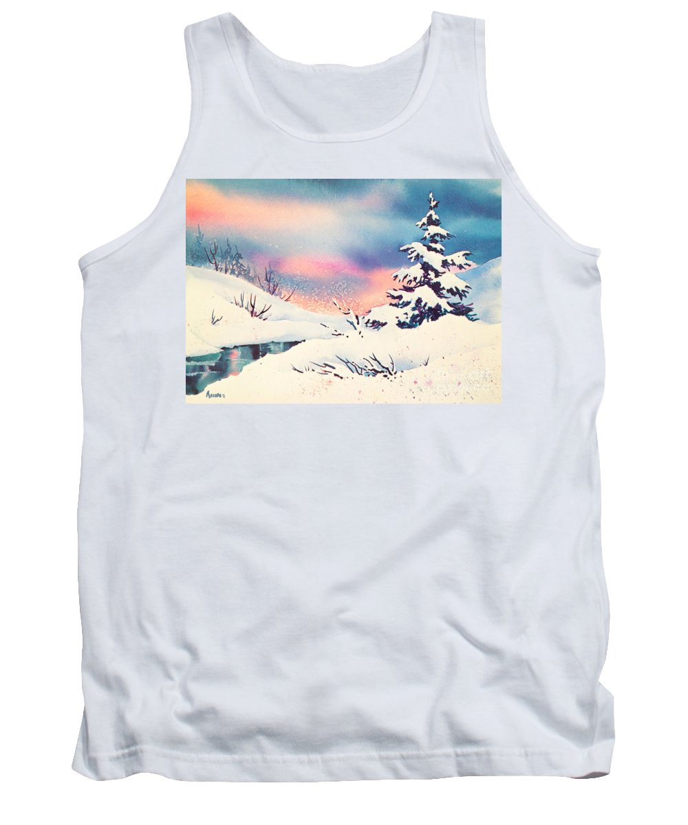First Snow Tank Top featuring the painting First Snow by Teresa Ascone