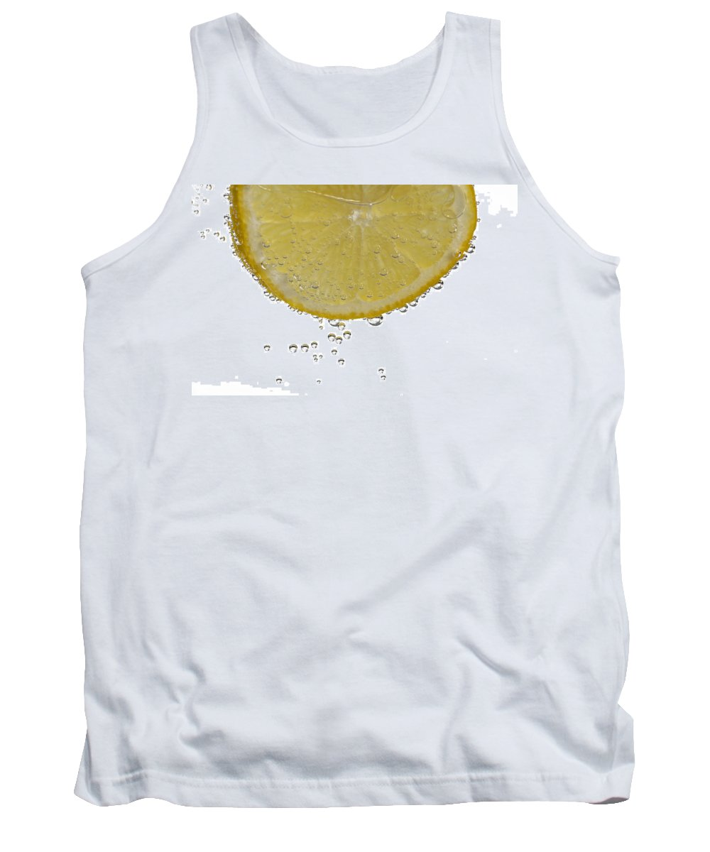 Fruit Tank Top featuring the photograph Fizzy Lemon by Claudio Bacinello