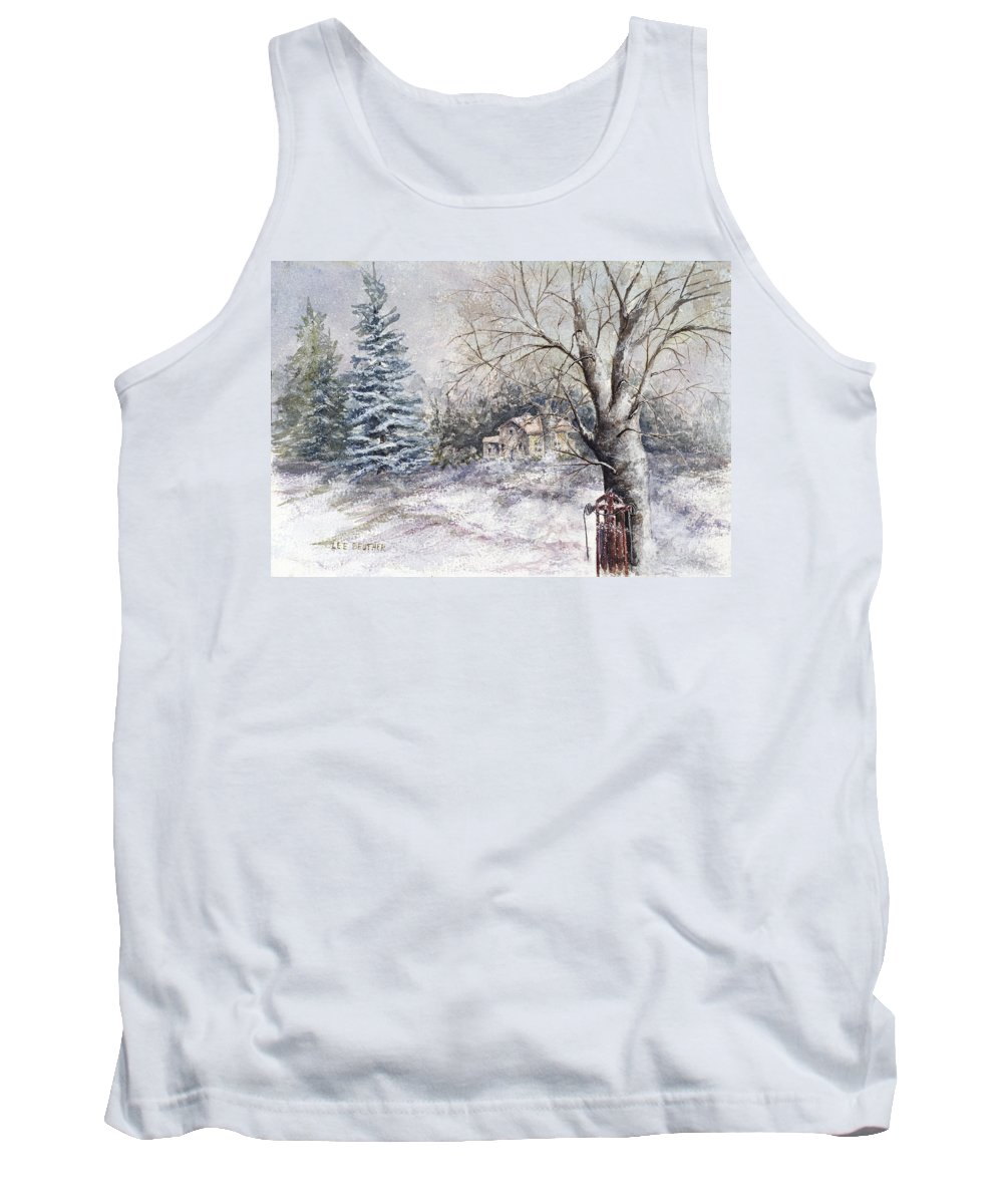 Landscapes Tank Top featuring the painting Flexible Flyer by Lee Beuther
