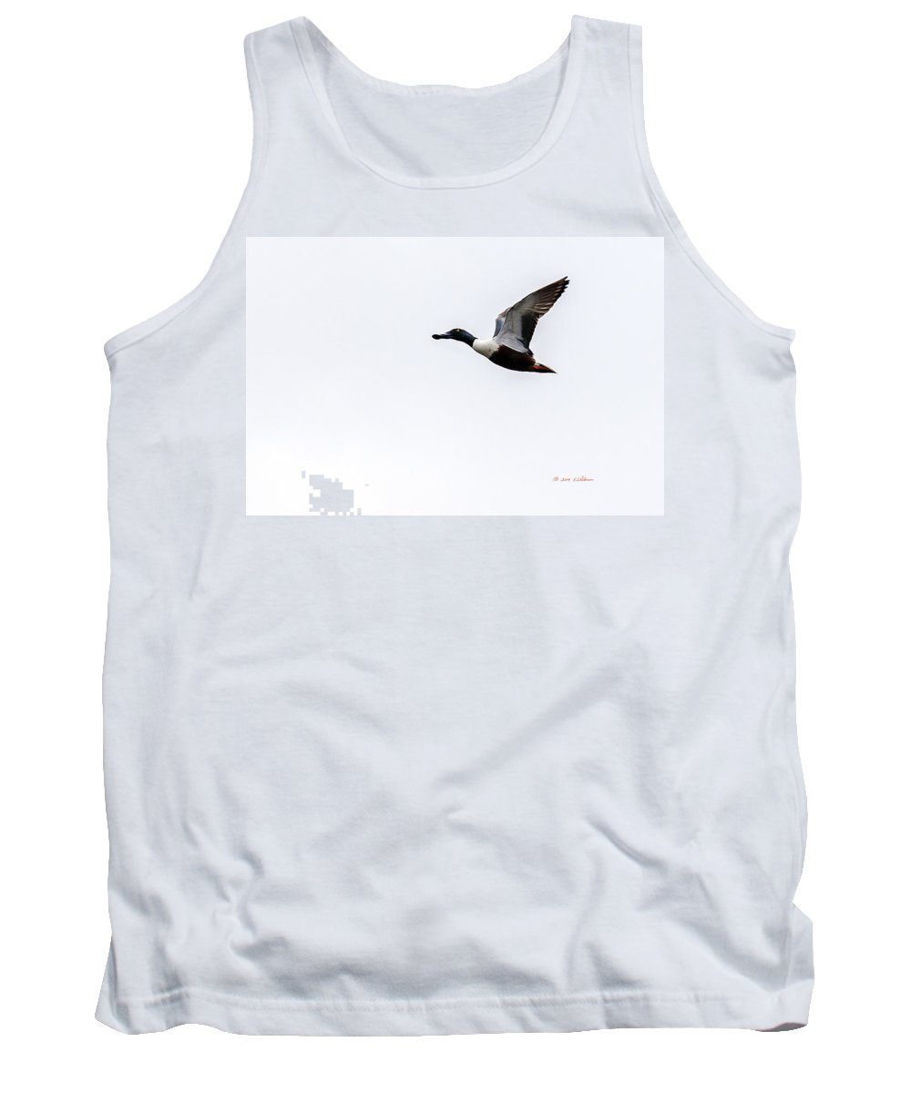 Spring Tank Top featuring the photograph Flight Of A Northern Shoveler by Edward Peterson