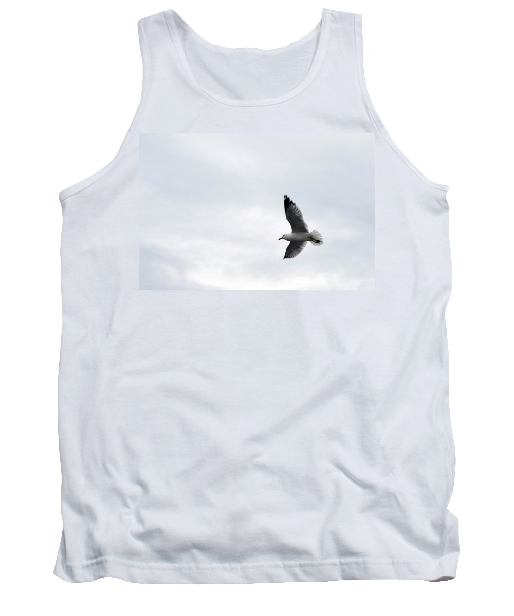 Seagull Tank Top featuring the photograph Flight Of The Seagull by Linda Kerkau