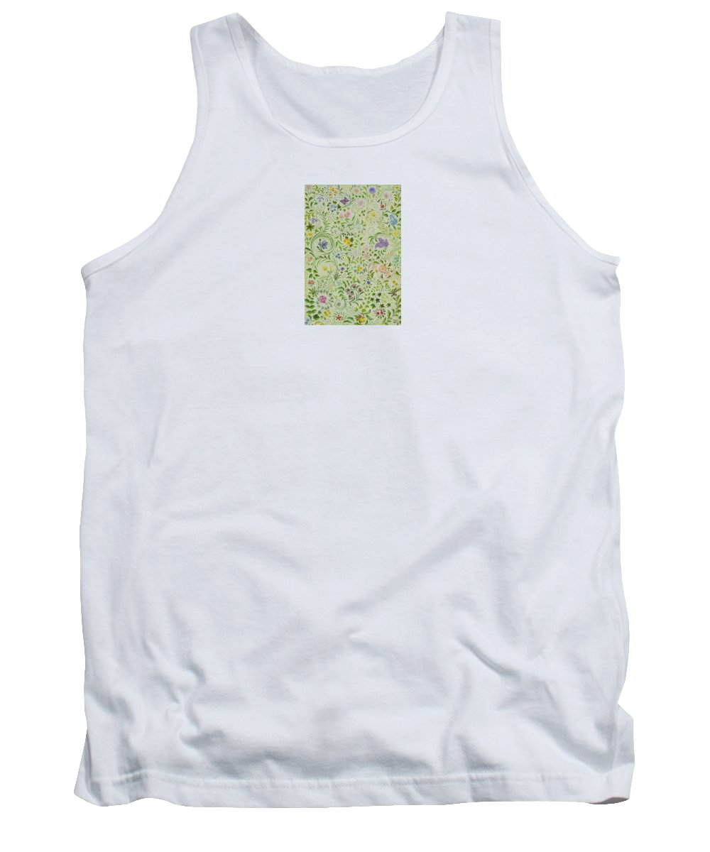 Flowers Tank Top featuring the painting Floral Fantasy by Lynn Bywaters
