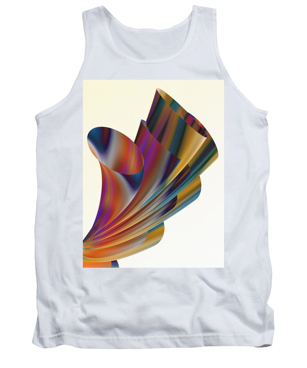 Xenodream Tank Top featuring the digital art Floral Trumpets by Hakon Soreide