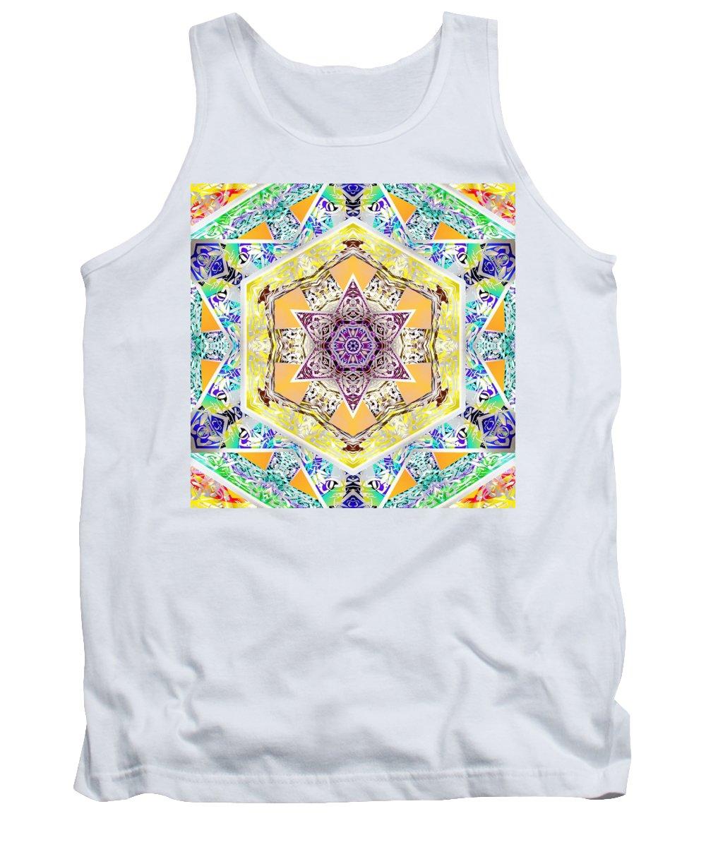 Sacredlife Mandalas Tank Top featuring the digital art Flower Goddess by Derek Gedney