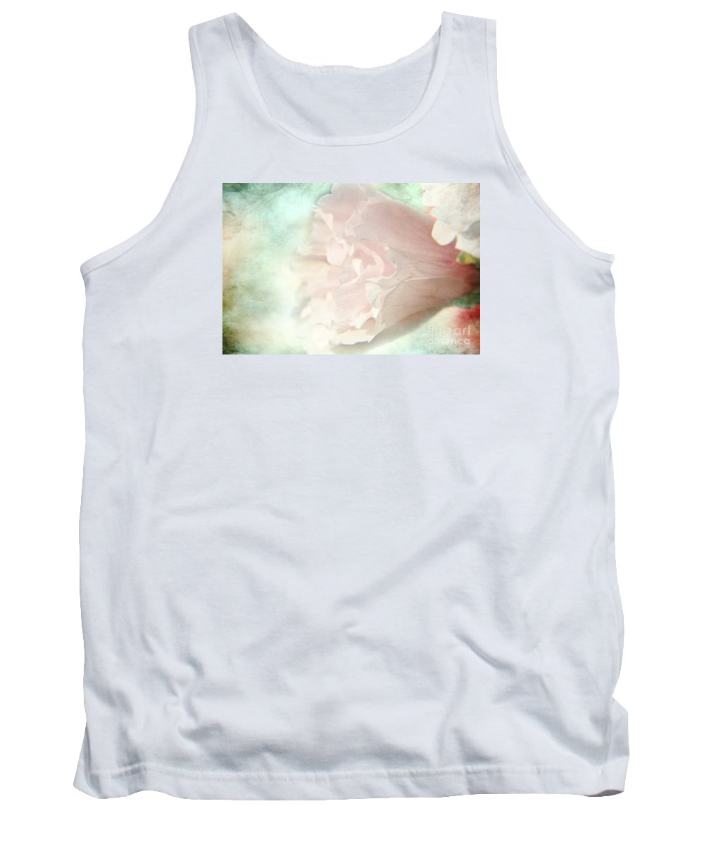 Mallow Tank Top featuring the photograph Flower On Old Postard by Lali Kacharava
