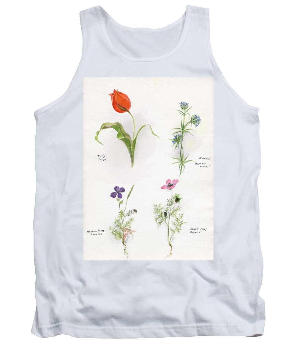 Flower Tank Top featuring the photograph Flowers 1931 by Granger