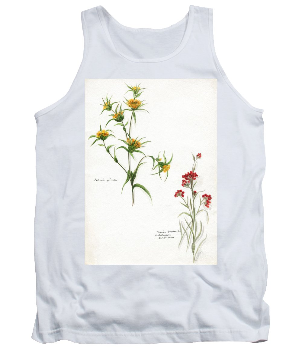 Flower Tank Top featuring the photograph Flowers 1950 by Granger