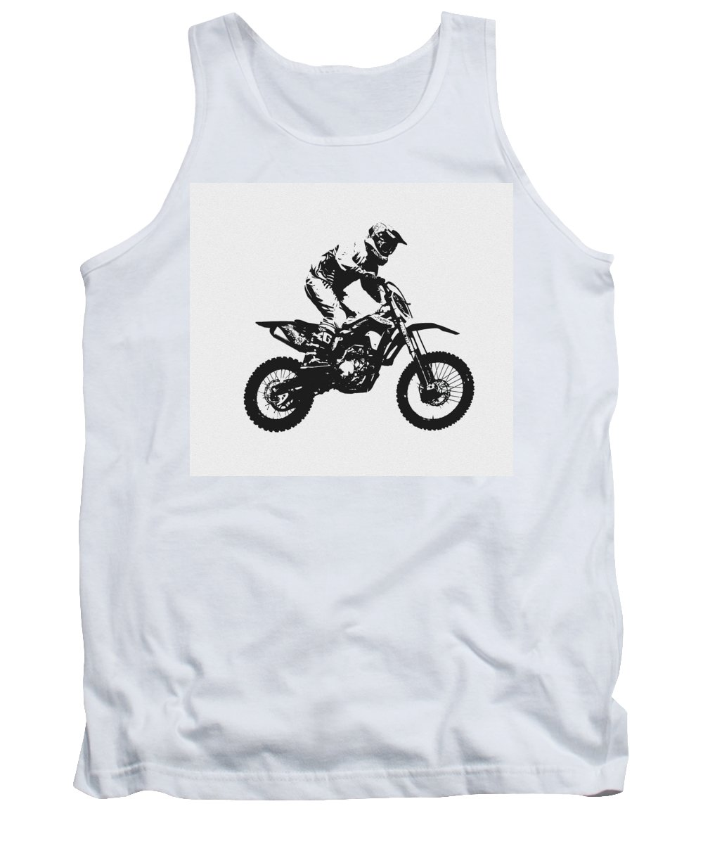 Motorcycle Tank Top featuring the photograph Flying High by David Lee Thompson