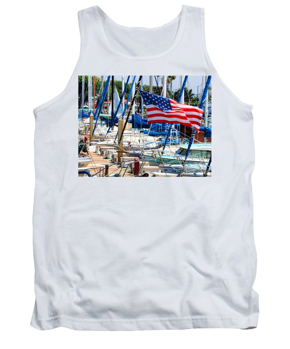 American Flag Tank Top featuring the photograph Flying Proud By Diana Sainz by Diana Raquel Sainz