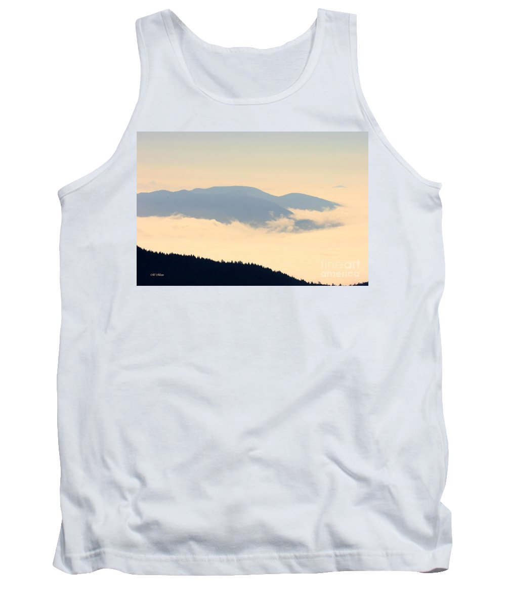 Lopez Island Tank Top featuring the photograph Fog Island by Tap On Photo