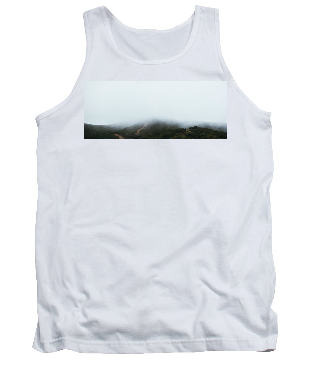 Growth Tank Top featuring the photograph Foggy Hills by Amelia Fletcher