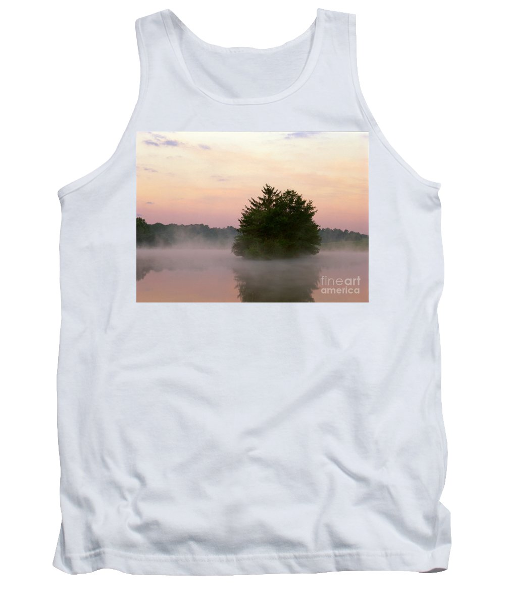 Nature Tank Top featuring the photograph Foggy Lake by David Davis