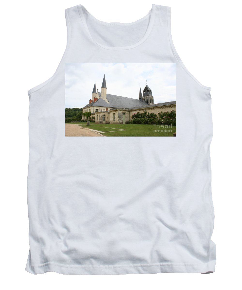 Cloister Tank Top featuring the photograph Fontevraud Abbey - France by Christiane Schulze Art And Photography