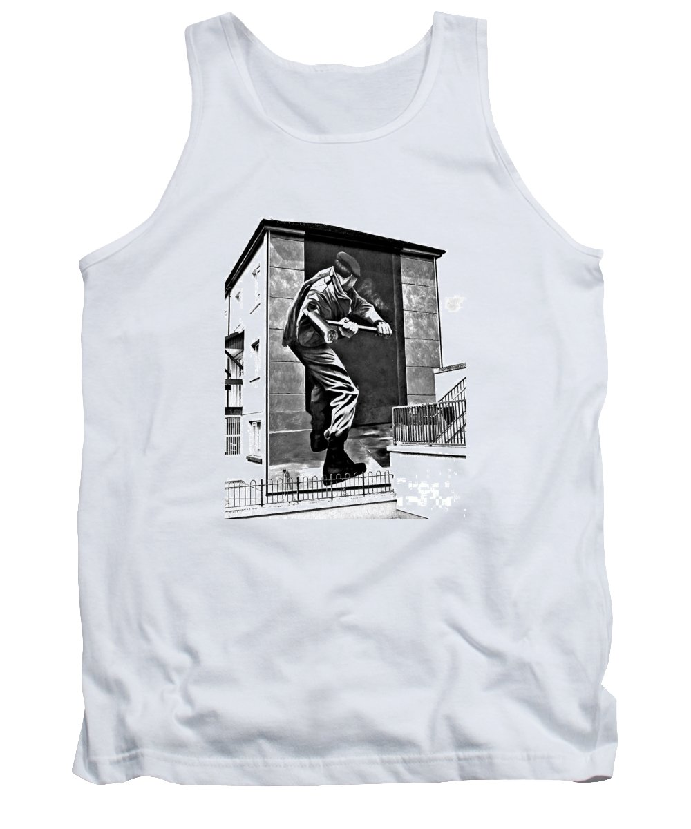 Derry Murals Tank Top featuring the photograph Forced Entry Derry Mural by Nina Ficur Feenan