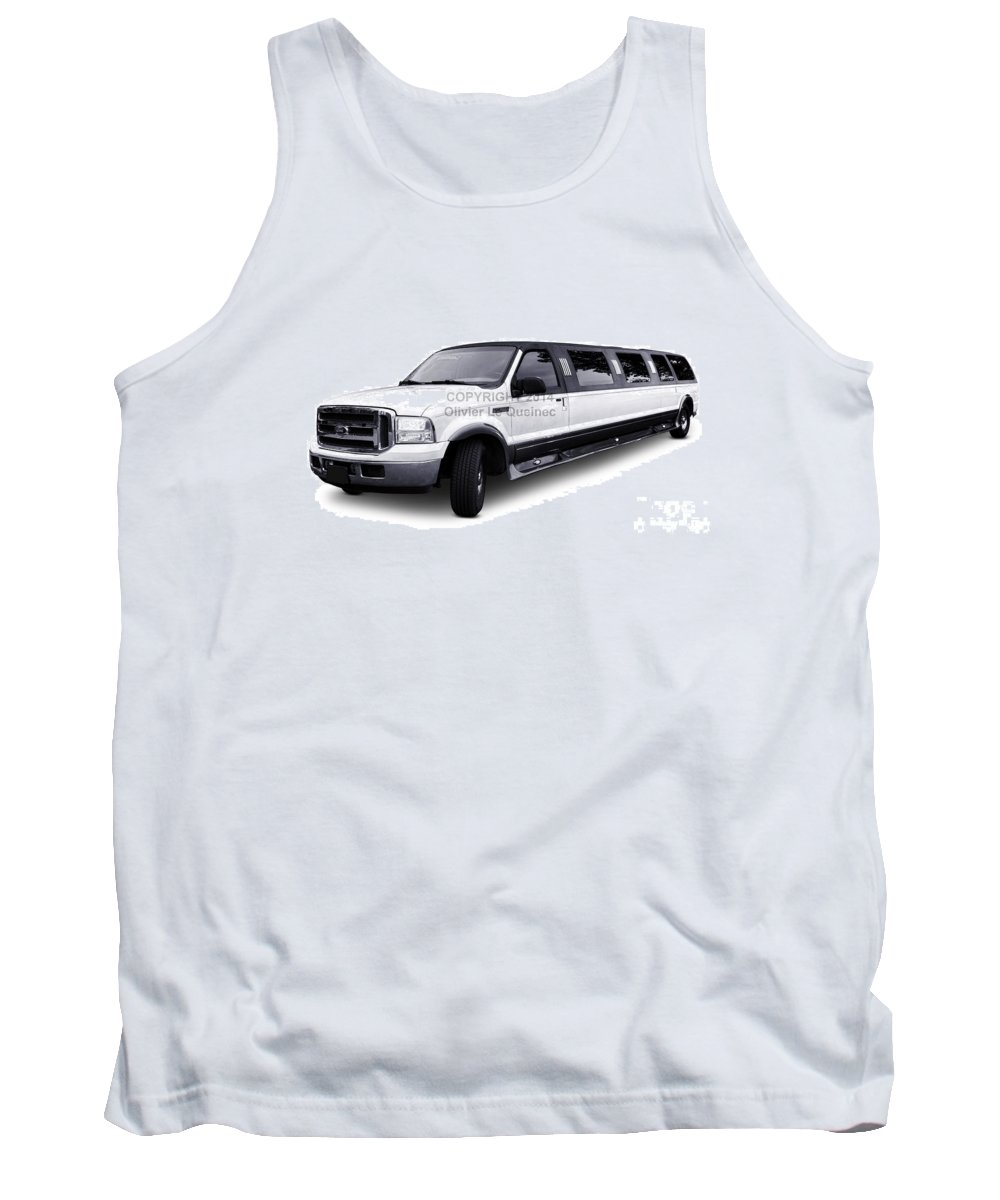 Ford Tank Top featuring the photograph Ford Excursion Stretched Limousine by Olivier Le Queinec