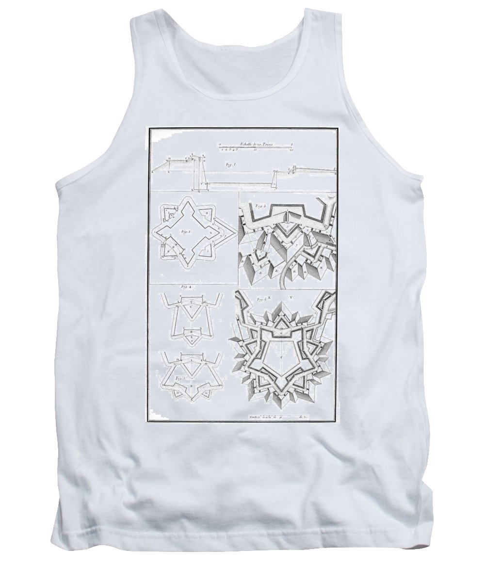 18th Century Tank Top featuring the photograph Fortress, 18th Century by Granger
