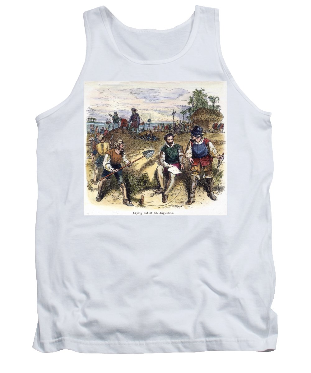 1565 Tank Top featuring the painting Founding Of St by Granger